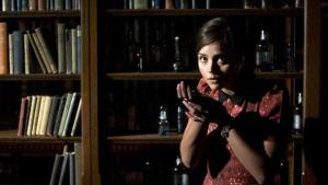 Clara in the Tardis library