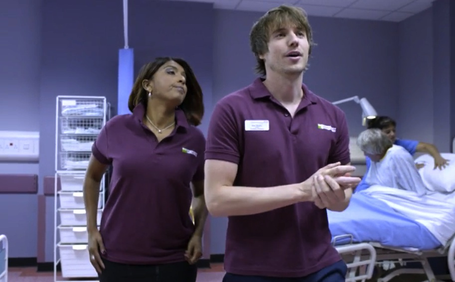 Name of wheelchair doctor in bbc medical drama?