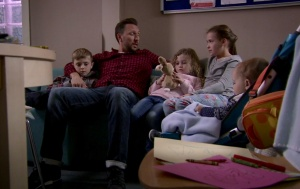 fletch and kids holby