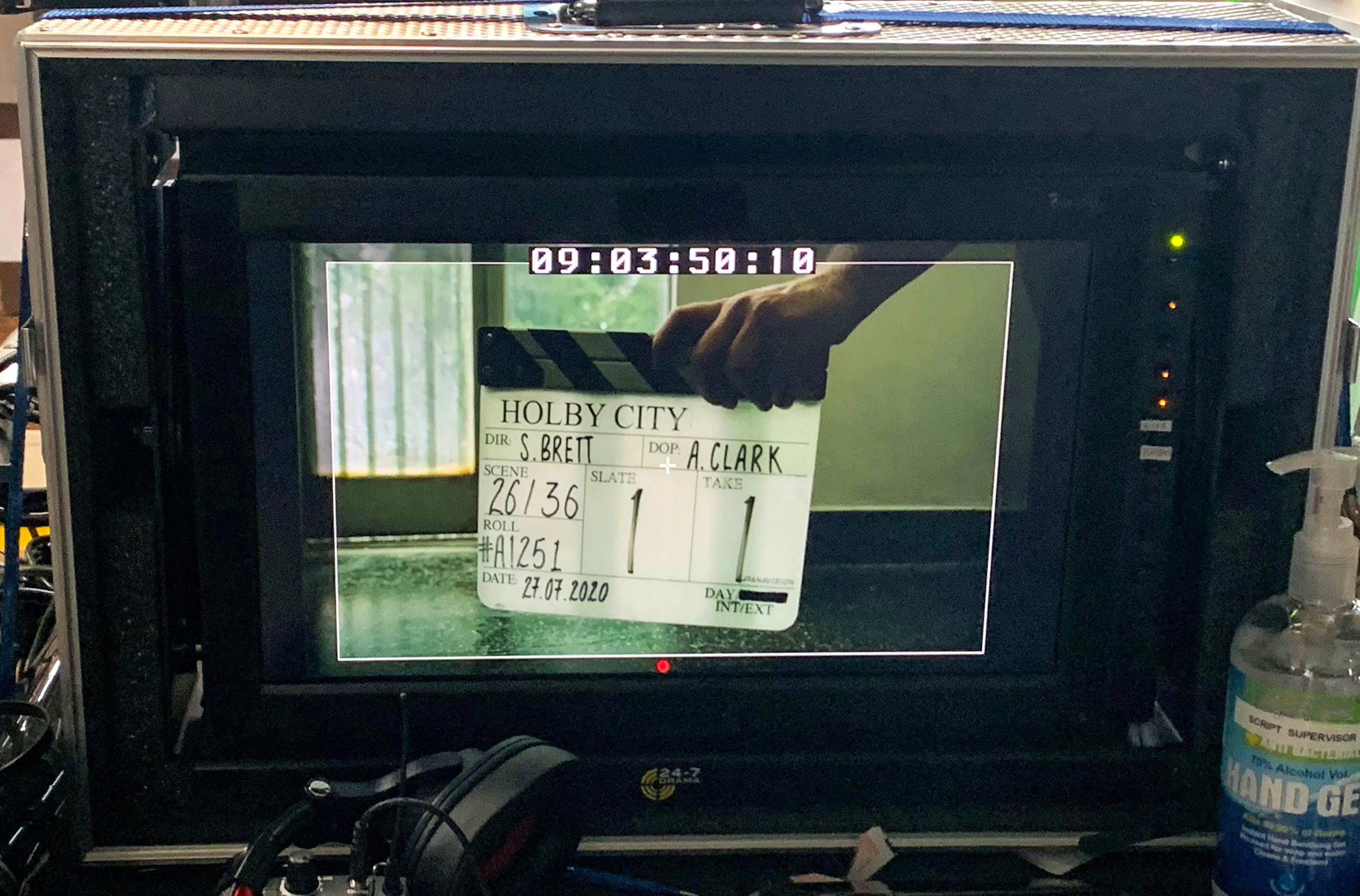 Holby - clapper board pic